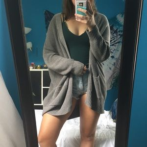 Gray Urban Outfitters BDG Cardigan
